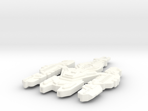 Kearnon Class Cardassian Ship (Larger) in White Strong & Flexible Polished