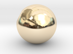 Sphere1 in 14K Gold