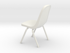 1:24 Plastic Scoop Chair (Not Full Size) in White Strong & Flexible