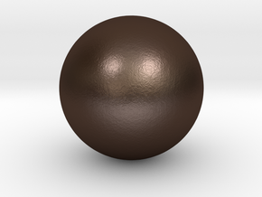 Sphere in Matte Bronze Steel