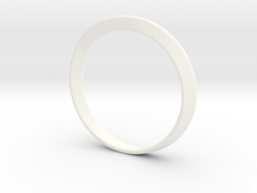 Mobius Strip Bracelet (48mm Inner Diameter) in White Strong & Flexible Polished