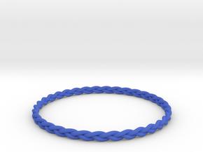 Braid bangle in Blue Strong & Flexible Polished