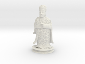 Traditional Cantonese Bishop Statuette 232mm in White Strong & Flexible