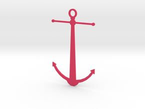 Anchor Pendant in Pink Strong & Flexible Polished