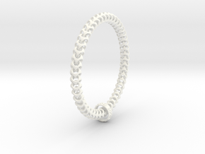 Cubichain Bracelet (XXL) T8mm - L240mm in White Strong & Flexible Polished
