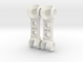 NEW! ModiBot Mech Xtendr ForeArm Set in White Strong & Flexible