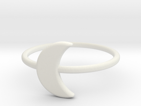 Midi Moon Ring by titbit in White Strong & Flexible