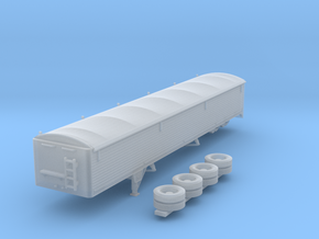 1:160 N Scale 43' Aluminum Grain Trailer w/ Tarp in Frosted Ultra Detail
