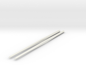 Shapeways Twistedsticks 140mm Long in White Strong & Flexible