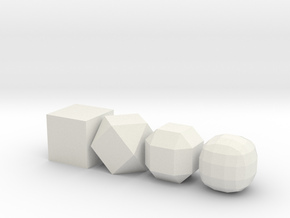 from cube to ball in White Strong & Flexible