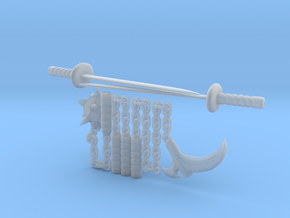 Bot Ninja Weapons in Frosted Ultra Detail