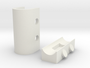 Coaxial Wall Clip in White Strong & Flexible