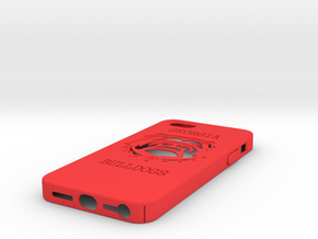 U Of Georgia Case IP5 in Red Strong & Flexible Polished