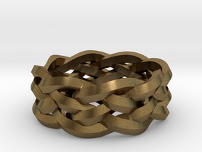 Five-Strand Braid Ring in Raw Bronze