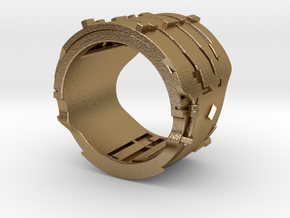 Dead Space Engineering Suit lvl3 ring in Polished Gold Steel