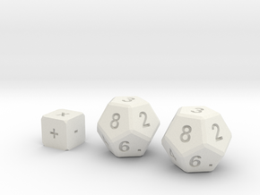 Math Practice Dice By Ctrl Design in White Strong & Flexible