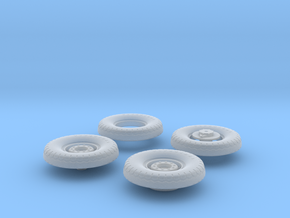 1:35 18 24 240mmgun Wheels Frontrear in Frosted Ultra Detail