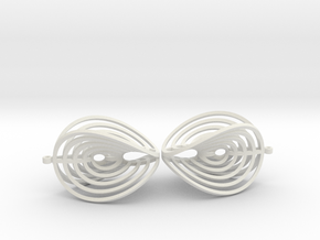 Aerial earring in White Strong & Flexible
