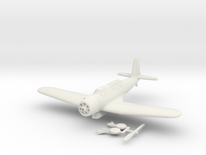 1/100 Vought SB2U Vindicator (extended wings) in White Strong & Flexible