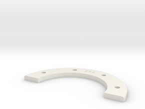 Universal Retainer Ring Half - 1-8th Scale in White Strong & Flexible