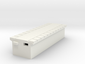 T Gauge Perrondeel / Platform30 mm Smal (1:450) in White Strong & Flexible