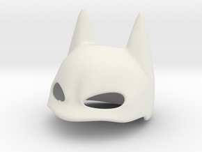 Eared Cover Mask Stl in White Strong & Flexible