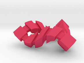 Impossible Triangle, Cubed in Pink Strong & Flexible Polished