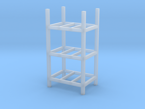 Steel Storage Racks 1-87 3 High in Frosted Ultra Detail