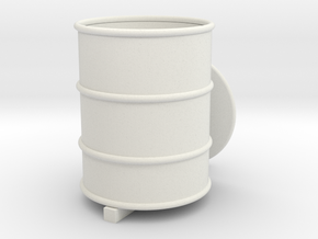 Oil Drum in White Strong & Flexible