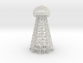Tesla Tower Replica in White Strong & Flexible
