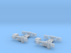 Wagon Dimond Frame Bogie X2 in Frosted Ultra Detail
