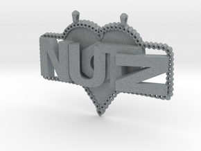 Nutz Plate 1 in Polished Metallic Plastic