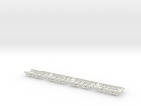 HOn30  10ft industrial chassis wood in White Strong & Flexible