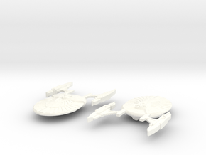 USS Hannibal in White Strong & Flexible Polished