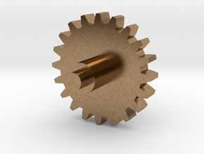 Replacement cog for music box in Raw Brass