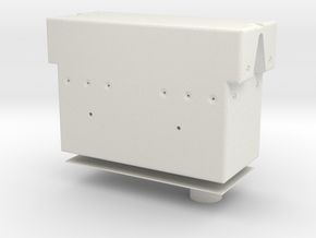 Rotational Control Housing 1:1 w/ Hole in White Strong & Flexible