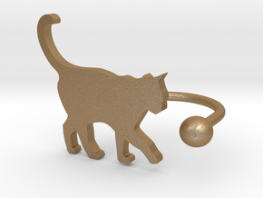 [Ring]Kitty play with a Ball (size 8) in Matte Gold Steel