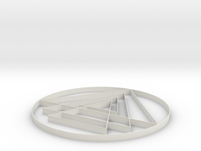 Yantra - 2 inch in White Strong & Flexible