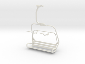 Ski Lift Chair in White Strong & Flexible