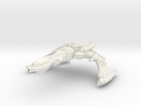 DeathHand Class Cruiser in White Strong & Flexible