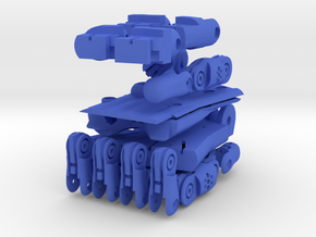 3D Printed Hand Right in Blue Strong & Flexible Polished