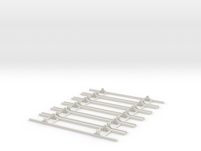 OO9 Underframe 15ft wb x6 in White Strong & Flexible