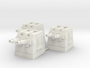 Turbolaser Turret Short Group 1/270 in White Strong & Flexible