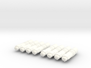 Nacelles Pack of 8 in White Strong & Flexible Polished
