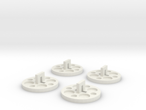 120 To 116 Film Spool Adapters, Set of 4 in White Strong & Flexible