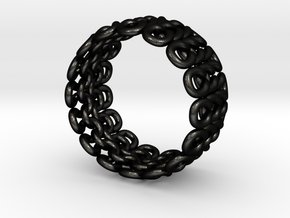 Knitter's Ring (59mm) in Matte Black Steel