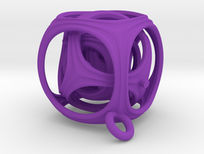Gyro The Cube (XS) (Ring + Pattern) in Purple Strong & Flexible Polished