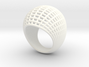 Wire Ring 2 in White Strong & Flexible Polished