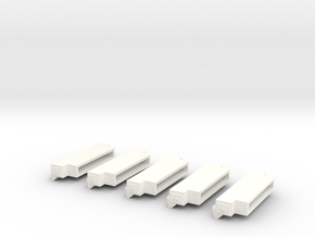 1/64 Bumpers (S Scale) in White Strong & Flexible Polished