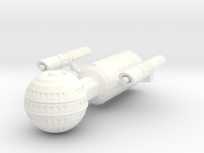 USS Daedalus in White Strong & Flexible Polished